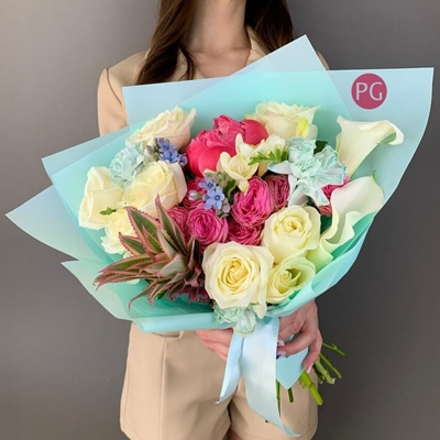 Flower bouquets for Moscow Russia