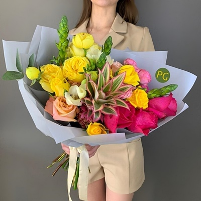 Flower bouquets for Moscow