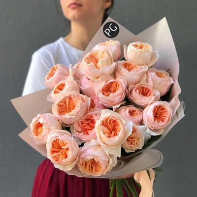 Peony roses delivery for Moscow