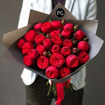 Peony roses delivery for Russia